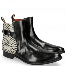 Stiefeletten Toni 35  Black Hairon Breeze Nickel Young Zebra Sword