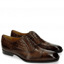 Oxford Schuhe Woody 9 Perfo Mesh Dark Brown