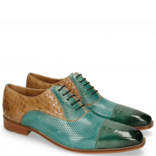 Oxford Schuhe Lance 55 Perfo Guana Mermaid Woven Sand