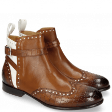 Stiefeletten Sally 60 Crock Mid Brown Patent White