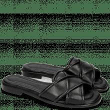 Pantoletten Elodie 14 Nappa Black