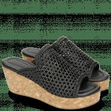 Pantoletten Hanna 57 Mignon Sheep Black Cork