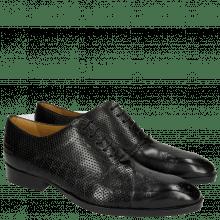Oxford Schuhe Ricky 9 Crock Perfo Black LS Black