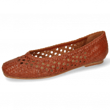 Ballerinas Melly 1 Open Weave Brandy