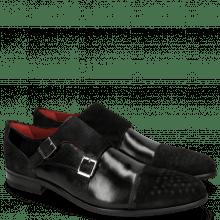 Monk Schuhe Toni 17 Black Lima Black