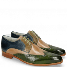 Derby Schuhe Lewis 3 Turtle Ultra Green Cappuccino Dice Olive Helio