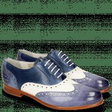 Oxford Schuhe Selina 24 Vegas Moroccan Blue White Navy Perfo