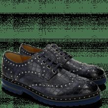 Derby Schuhe Matthew 14 Crock Navy Rivets
