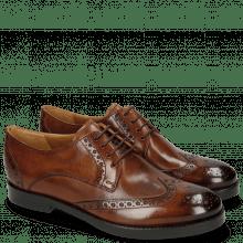 Derby Schuhe Amelie 3 Wood