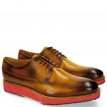Derby Schuhe Chris 1 Yellow Shade Brown Micro Mattone