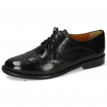 Derby Schuhe Selina 41 Black Lining Rich Tan Flex
