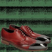 Derby Schuhe Lance 1 Brilliant Red Metal Toe Cap