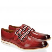 Monk Schuhe Eddy 26 Rich Red Strap French Nylon