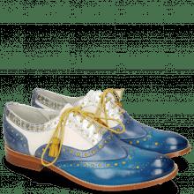 Oxford Schuhe Amelie 70 Vegas Mid Blue Wind Timor Silver White