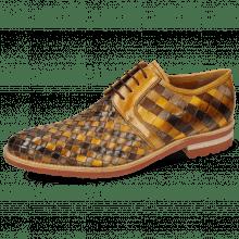 Derby Schuhe Brad 1  Woven Vegas Multi Sabbia