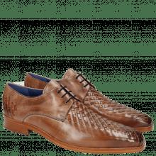 Derby Schuhe Lewis 25 Classic Cappu Interlaced Orange LS