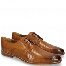 Derby Schuhe Martin 1 Berlin Perfo Tan Laces