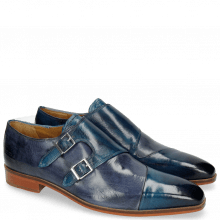 Monk Schuhe Lance 34 Mid Blue Moroccan Blue