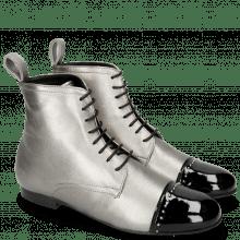 Stiefeletten Sonia 7 Patent Black Talca Steel Rivets
