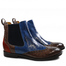 Stiefeletten Amelie 5 Crock Stone Pop Blue Orange Elastic Navy HRS