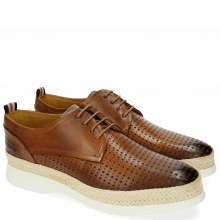 Derby Schuhe Regine 1 Perfo Square Tan