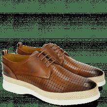 Derby Schuhe Regine 1 Perfo Square Tan