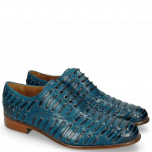 Oxford Schuhe Henry 25 Mid Blue Eyelet Gunmetal