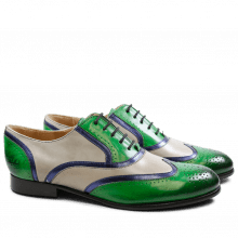 Oxford Schuhe Sally 38 Crust Electric Green Smog Salerno Metalic Night Sky HRS