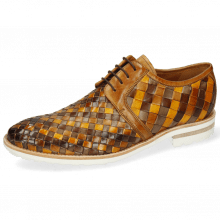 Derby Schuhe Brad 1 Woven Vegas Chestnut Ocra Sabbia Mid Brown