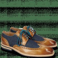 Derby Schuhe Marvin 13 Tan Denim Blue Modica