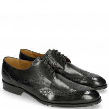 Derby Schuhe Kane 5 Black Lining Rich Tan