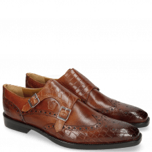 Monk Schuhe Martin 2 Venice Crock Tan Insole Leather