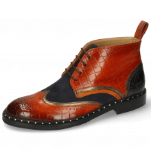 Stiefeletten Sally 30 Crock Winter Orange Nappa Aztek Bronze Sheep Suede Navy
