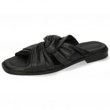 Pantoletten Elodie 22 Nappa Black Lining Black
