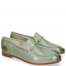 Loafers Scarlett 22  Glove Nappa Tropical Sea Trim Gold