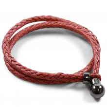 Armbänder Caro 2 Woven Rich Red Accessory Gunmetal