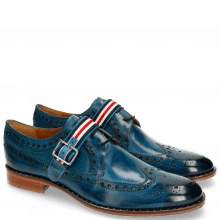 Derby Schuhe Mika 7 Mid Blue Monk Strap French Nylon