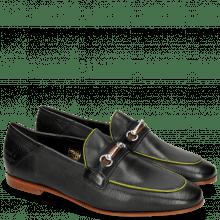 Loafers Scarlett 45 Glove Nappa Black Binding Fluo Yellow
