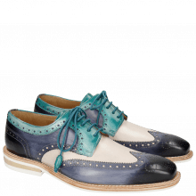 Derby Schuhe Marvin 1 Marine Blusher Onda