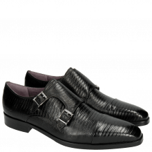 Monk Schuhe Lance 1 Guana Black