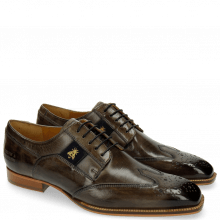 Derby Schuhe Woody 6 Smoke Strap Suede Navy Bee