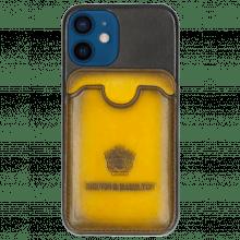 iPhone Hülle Twelve Mini Vegas Black Wallet Yellow