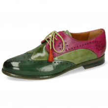 Derby Schuhe Selina 41 Dark Forest New Grass Dark Pink