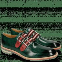 Monk Schuhe Eddy 26 Pine Strap Black Red Beige