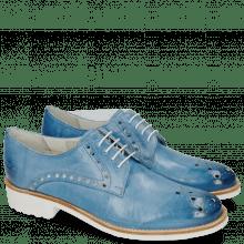 Derby Schuhe Amelie 7 Vegas Bluette