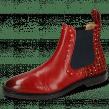 Stiefeletten Katrin 3  Ruby Hairon Tweed Black Red Rivets