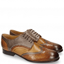Derby Schuhe Sally 15 Wood Fermont Coppa Sand