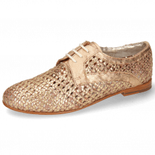 Derby Schuhe Monica 1 Woven Rose Gold