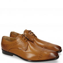 Derby Schuhe Ethan 14 Tan LS Brown