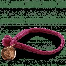 Armbänder Caro 1 Woven Dark Pink Accessory Rose Gold
